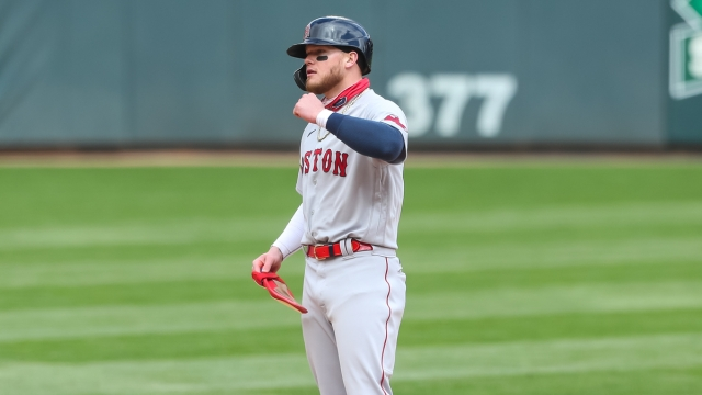 Boston Red Sox left fielder Alex Verdugo