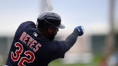 Cleveland Indians right fielder Franmil Reyes