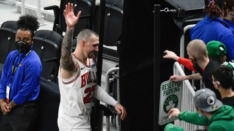 Chicago Bulls center Daniel Theis