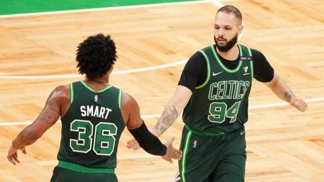 Boston Celtics guard Evan Fournier, Marcus Smart