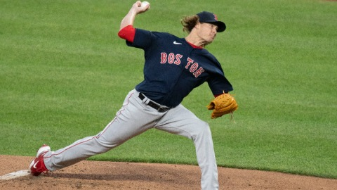 Boston Red Sox starting pitcher Garrett Richards