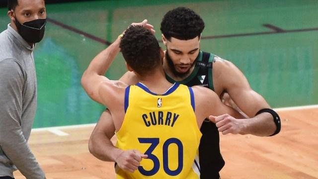 Boston Celtics forward Jayson Tatum, Golden State Warriors guard Stephen Curry