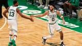 Boston Celtics forward Jayson Tatum, Tristan Thompson