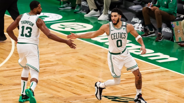 Boston Celtics forward Jayson Tatum, Tristan Thompson