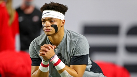 Ohio State Buckeyes quarterback Justin Fields