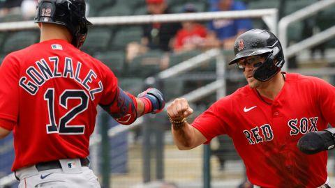 Boston Red Sox utility players Kike Hernandez and Marwin Gonzalez