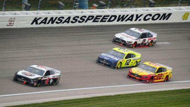 NASCAR drivers at Kansas Speedway