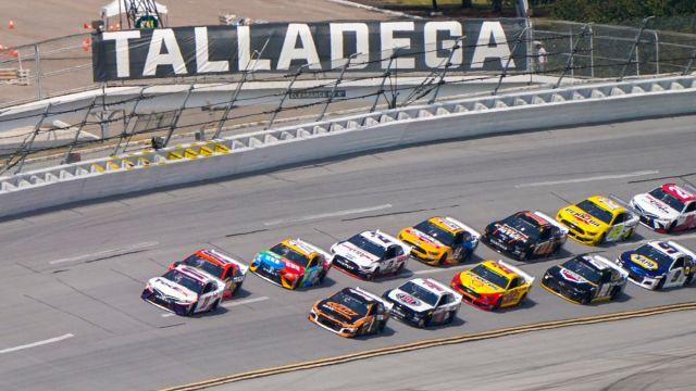 NASCAR drivers at Talladega Superspeeddway