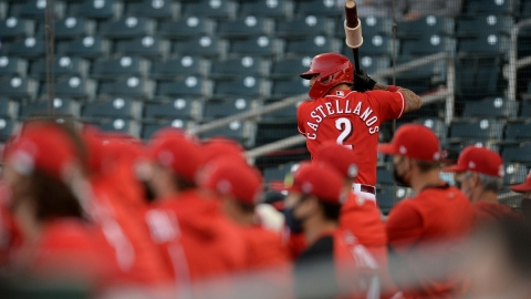 Cincinnati Reds right fielder Nick Castellanos