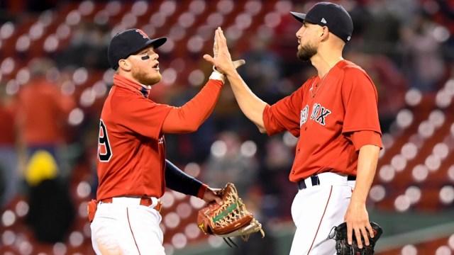 Boston Red Sox relief pitcher Matt Barnes and center fielder Alex Verdugo