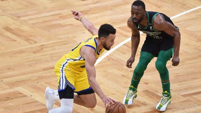Golden State Warriors guard Stephen Curry, Boston Celtics guard Kemba Walker