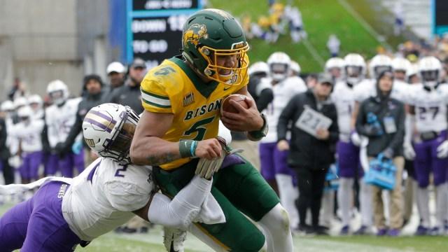 North Dakota State Bison quarterback Trey Lance