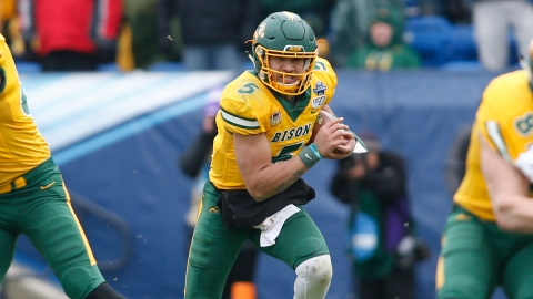 NFL Draft prospect and former North Dakota State quarterback Trey Lance