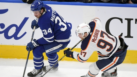 Toronto Maple Leafs center Auston Matthews, Edmonton Oilers center Connor McDavid