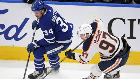 Toronto Maple Leafs center Auston Matthews, Edmonton Oilers center Connor McDavid