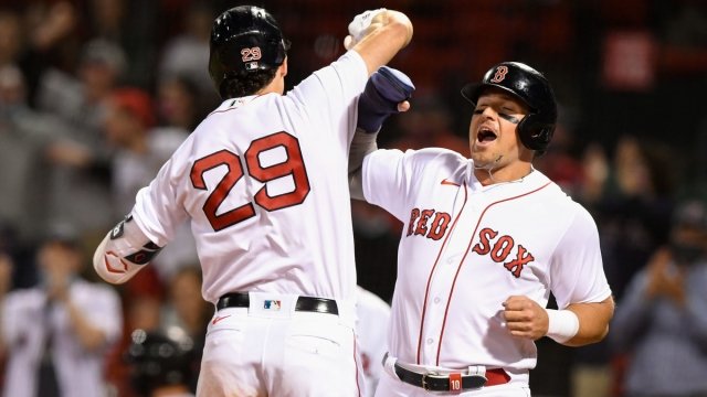 Boston Red Sox first baseman Bobby Dalbec, outfielder Hunter Renfroe