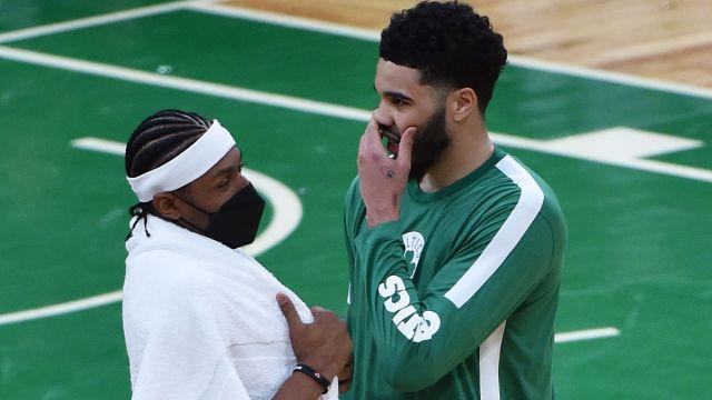 Washington Wizards guard Bradley Beal and Boston Celtics forward Jayson Tatum