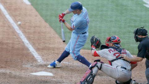 Texas Rangers third baseman Brock Holt