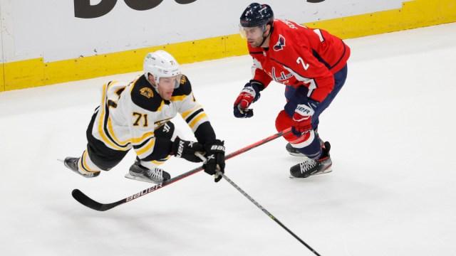 Boston Bruins winger Taylor Hall, Washington Capitals defenseman Justin Schultz