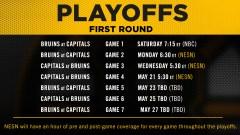 Bruins Playoffs NESN Schedule 2021