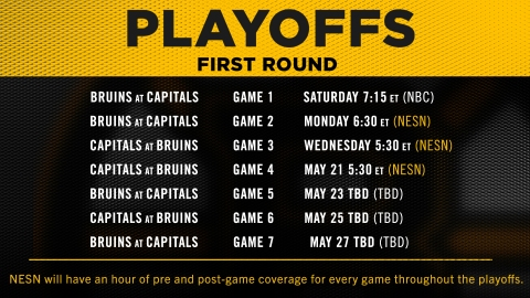 Bruins Playoffs NESN Schedule 2021