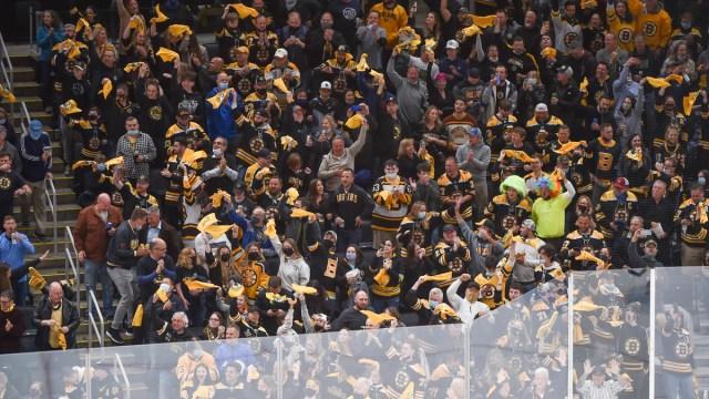 Bruins Fans At TD Garden