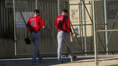 Boston Red Sox pitchers Chris Sale (left) and Nick Pivetta