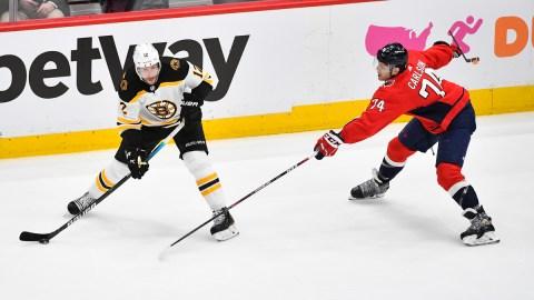 Boston Bruins winger Craig Smith, Washington Capitals defenseman John Carlson