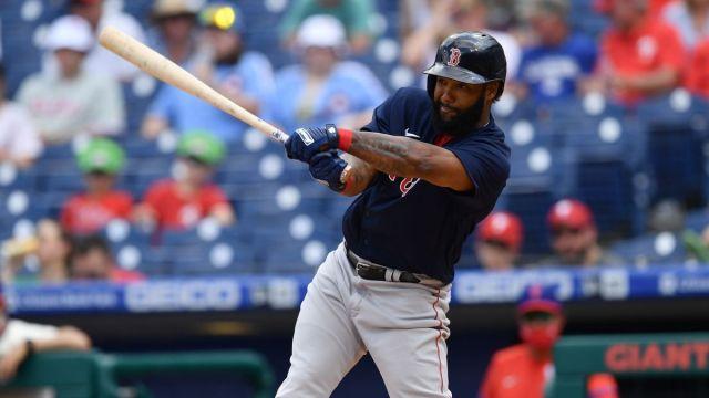 Boston Red Sox infielder Danny Santana