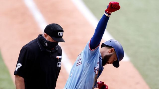 Texas Rangers shortstop Isiah Kiner-Falefa