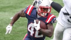 Patriots running back J.J. Taylor