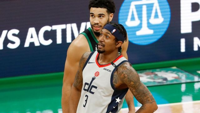 Boston Celtics forward Jayson Tatum, Washington Wizards guard Bradley Beal