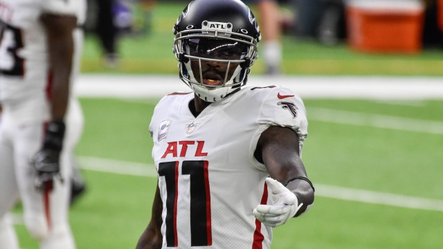 Falcons wide receiver and potential Patriots trade candidate Julio Jones