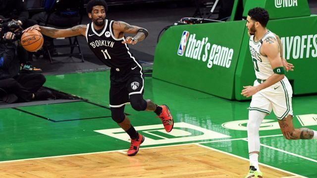Brooklyn Nets guard Kyrie Irving, Boston Celtics forward Jayson Tatum
