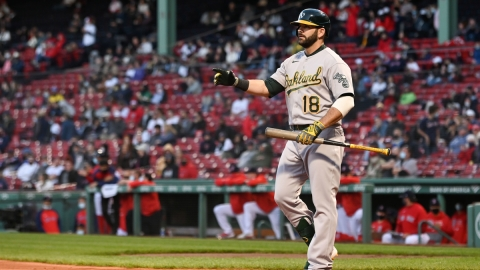 Oakland Athletics Designated Hitter Mitch Moreland