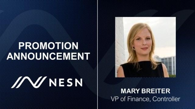 NESN Vice President of Finance, Controller Mary Breiter