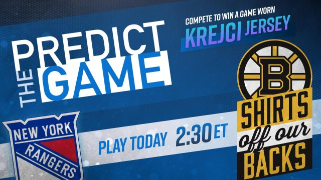 "Bruins vs. Rangers ""Predict the Game"""