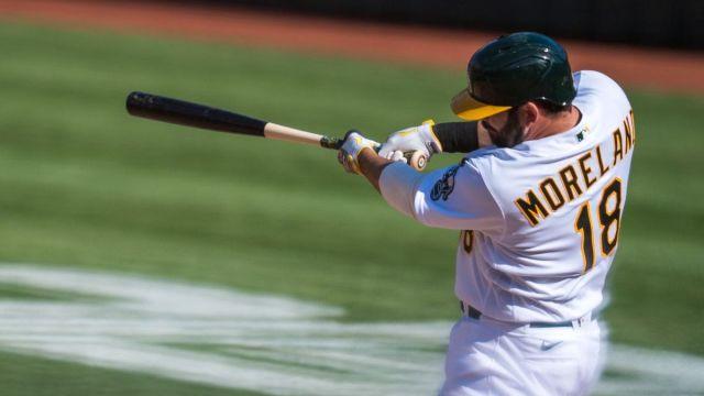 Oakland Athletics designated hitter Mitch Moreland