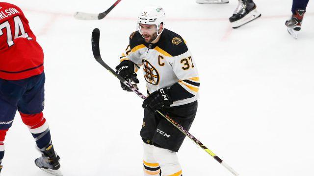 Boston Bruins captain Patrice Bergeron