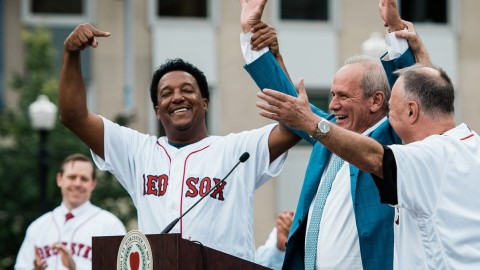 Pedro Martinez WooSox Celebration