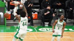 Boston Celtics center Robert Williams, guard Kemba Walker
