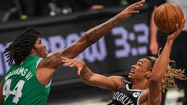 Boston Celtics center Robert Williams, Brooklyn Nets forward Nicolas Claxton