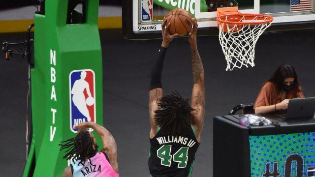Boston Celtics center Robert Williams, Miami Heat Forward Trevor Ariza