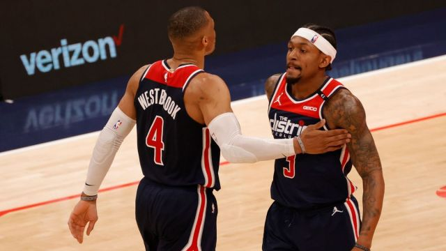 Washington Wizards guards Russell Westbrook, Bradley Beal