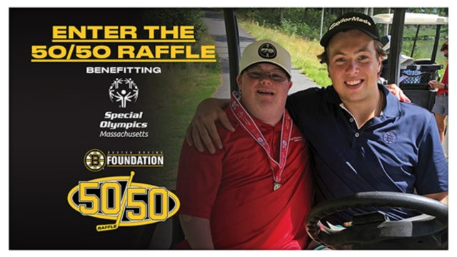 Bruins 50/50 raffle to benefit Special Olympics Massachusetts