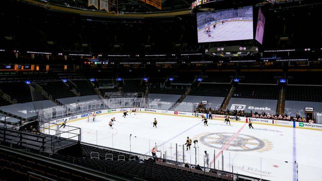 TD Garden during a Boston Bruins game
