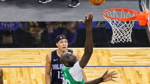 Boston Celtics center Tacko Fall, Orlando Magic R.J. Hampton