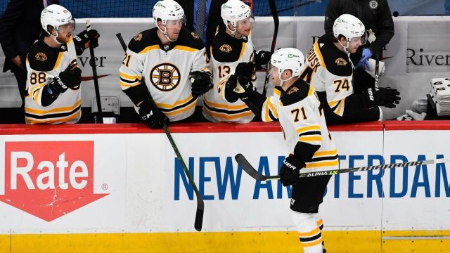Boston Bruins left wing Taylor Hall