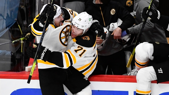 Boston Bruins Forwards Brad Marchand And Taylor Hall