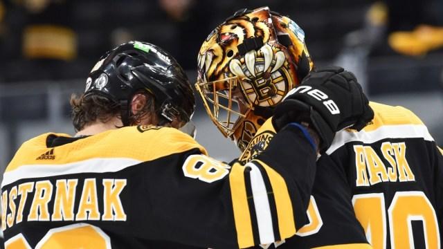Boston Bruins Goaltender Tuukka Rask, Forward David Pastrnak